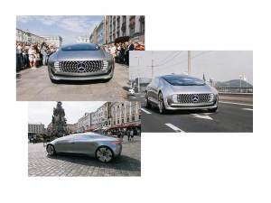 Mercedes Benz F 015 in the main square of Linz 2015/Fotos Ars Electronica