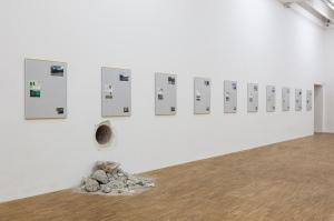 """Ausstellungsansicht """"Hans Schabus"""", Salzburger Kunstverein 2016, Foto: Andrew Phelps, © Salzburger Kunstverein"""